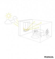 Interior reflector