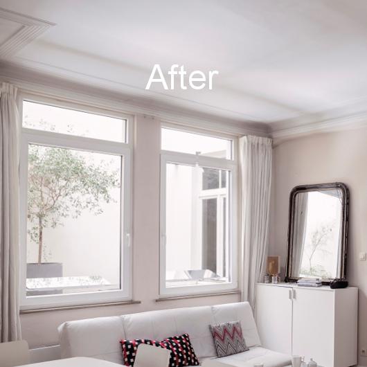 Installation réflecteurs extérieurs rez-de-chaussée cour intérieure appartement sombre
