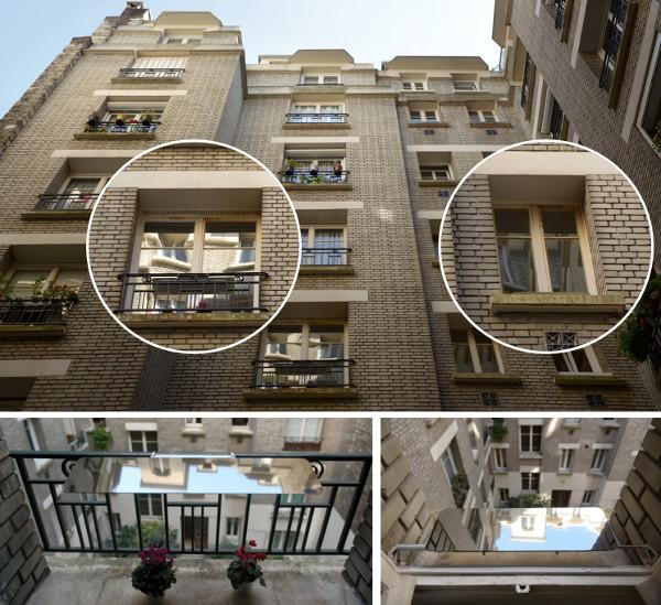 facade-appartement-avec-les-reflecteurs-de-lumiere-installes