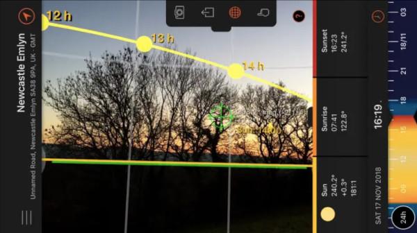 l'application sun surveyor permet de localiser les mouvements du soleil, le soleil qui rentre dans votre intérieur est du bien-être pour les occupants et un meilleur confort de vie